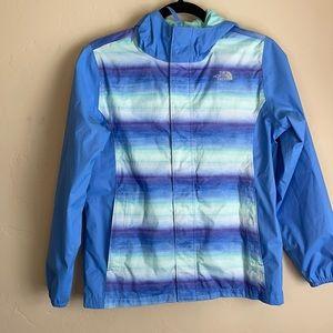Girls North Face Blue Rain Coat